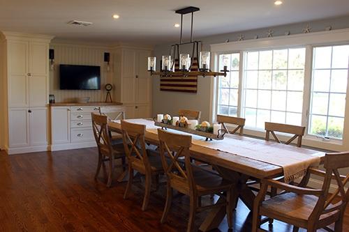 Family dining renovation